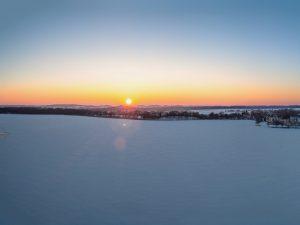 Panorama Ełk - zachód słońca