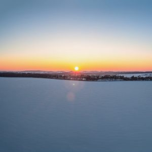 Panorama Ełk - zachód słońca-4